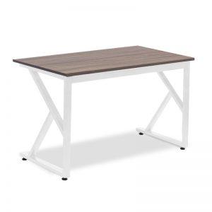 Bàn làm việc chân sắt chữ K - BCS-11 mặt bàn được làm bằng chất liệu gỗ công nghiệp cao cấp. Trên mặt bàn được phủ một lớp Melamine