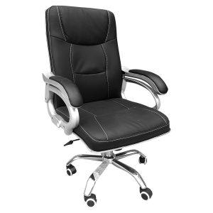 Ghế giám đốc tay bạc với thiết kế vững chắc cùng chất liệu da cao cấp khẳng định phong cách văn phòng đẹp. Chiếc ghế với độ ngả vừa phải giúp bạn có thể nghỉ ngơi sau những giờ làm việc căng thẳng.