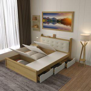 Giường ngủ nhiều ngăn chứa đồ là thiết kế mới của Nội thất Thiên Vương Sau một ngày làm việc vất vả, giường ngủ sẽ là nơi bạn để bạn nghỉ ngơi, lấy lại sức khỏe để bắt đầu ngày mới. Vì vậy, việc chọn một chiếc giường tốt là điều hết sức cần thiết. Giường ngủ nhiều ngăn chứa đồ là thiết kế mới của Nội thất Thiên Vương. Không chỉ cho bạn giấc ngủ ngon mà còn tốt về chất lượng, đẹp về thẩm mĩ. Hãy cùng chúng tôi đi khám phá mẫu sản phẩm có một không hai này nào!
