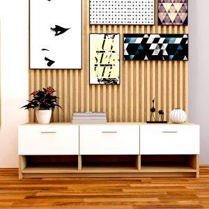 Kệ tivi 1m6 phong cách đơn giản được làm từ chất liệu gỗ MDF phủ Melamine kết hợp chân sắt sơn tíchđiện, sản phẩmđược thiết kế theo phong cách hiệnđại gồm 3 ngăn kéo và 3 tủ cánh kéođểđồ tiện dụng. Bạn có thế dễ dàng sử dụng sản phẩm với mọi không gian phòng khách khác nhau.