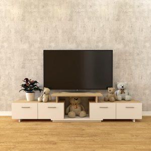 Kệ tivi thông minh, Kệ tivi Modul tùy chỉnh kích thước.Chất liệu kệ ti vi đẹp giá rẻ : gỗ công nghiệp cao cấp Kích thước:Dài 1, 6m .kéo dài 220cm - rộng 40cm - cao 50cm