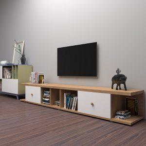 Kệ tivi gia đình dáng thấp gỗ công nghiệpđang là xu hướng lựa chọn của rất nhiều gia đình. Kệ tivi gia đình được thiết kế với những ngăn lưu trữ sách báo, tạp chí vô cùng tiện dụng với người dùng. Kết hợp mẫukệ tivivới ghế sofa sẽ mang đến gia đình bạn một căn phòng khách vô cùng hoàn hảo.