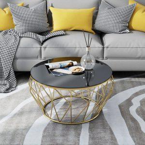 Bàn trà sofa màu đồng mặt kính rẻ đẹp Với mặt kính dày và lớp sơn bóng chống xước  Giá sản phẩm cạnh tranh với những nơi khác  Chất lượng sản phẩm đảm bảo vận chuyển dễ dàng
