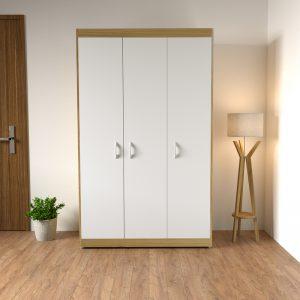 """Tủ quần áo phòng ngủ """" đạt chuẩn"""" phong cách hiện đại với tông màu trắng cải viền nâu sẽ giúp phòng ngủ của bạn trở lên sang trọng và tươi sáng hơn, góp phần làm cho không gian phòng ngủ trở nên hiện đại và tươi mới hơn."""