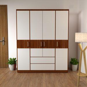 là dòng tủ quần áođượcthiết kế theo phong cách hiện đại với tông màu 6041 kết hợp cánh trắng sẽ giúp phòng ngủ của bạn trở lên sang trọng và tươi sáng hơn, góp phần làm cho không gian phòng ngủ trở nên hiện đại và tươi mới hơn.