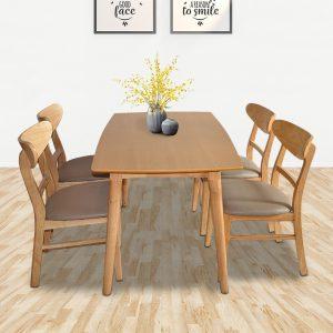Nếu bạn đang tìm kiếm một bộ bàng ghế ăn bằng gỗ tự nhiên thì chắc chắn không thể bỏ qua được bàn ăn Mango màu tự nhiên giá rẻ tại nội thất Thiên Vương đang rất được quan tâm trong thời gian gần đây. Bàn ăn mango tự nhiên được làm bằng gỗ cao su tự nhiên đã qua tẩm sấy chống mối mọt cong vênh