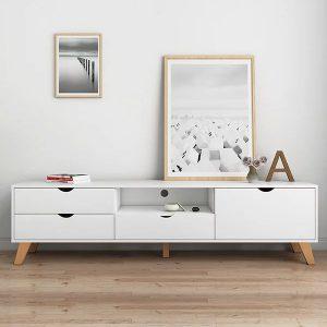 kệ tivi phòng khách, kệ tivi gia đình.Kệ tivi thiết kế đẹp bằng gỗ công nghiệp hiện đại tạo điểm nhấn nổi bật cho không gian phòng khách gia đình. Chất liệu gỗ MDF  Chất liệu:GỗMDF lõi xanh chống ẩmphủ Melamine màu hoặc vân gỗ tự nhiên, chân gỗ tự nhiên