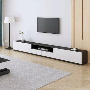 Kệ tivi phòng kháchcó 2 mẫu để bạn lựa chọn phù hợp với nhu cầu sử dụng cũng như diện tích gia đình. Không chỉ tạo điểm nhấn bên trong phòng khách, mẫu kệ tivi được thiết kế với ngăn tủ kéo cung cấp cho người dùng không gian lưu trữ vô cùng tiện dụng.