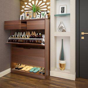 Tủ giày gỗ công nghiệp hiện đại cánh lật Bạn đang cần tìm sản phẩm tủ giày? Cho dự án? Khách sạn? Nhà ở? Đáp ứng các tiêu chí? Kích thước nhỏ gọn phù hợp cho mọi ngóc ngách căn nhà, góc cầu thang, cửa ra vào, phòng ngủ...