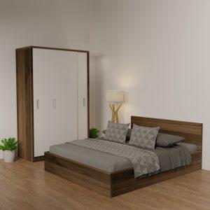 Giường gỗ công nghiệp Thiên Vươnglà giường đượcthiết kế theo phong cách hiện đại với tông màu 6041 giúp căn phòng của bạn trở lên sang trọng