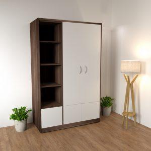 Tủ quần áo 2 cánh ngăn chứa đồlà dòng tủ quần áo thiết kế 2 cánh mở ngang và một ngăn để đồ bên cạnh nên rất tiện lợi cho việc để quần áo và chứa đồ.
