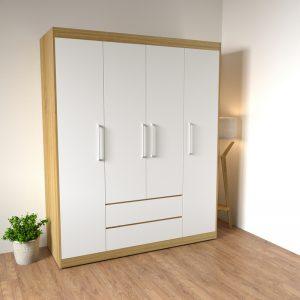 """Tủ quần áo phòng ngủ """" đạt chuẩn"""" phong cách hiện đại với tông màu vàng 9223 kết hợp cánh trắng sẽ giúp phòng ngủ của bạn trở lên sang trọng và tươi sáng hơn, góp phần làm cho không gian phòng ngủ trở nên hiện đại và tươi mới hơn."""